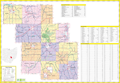 Map Department Perry County Engineer - Ohio roadmap